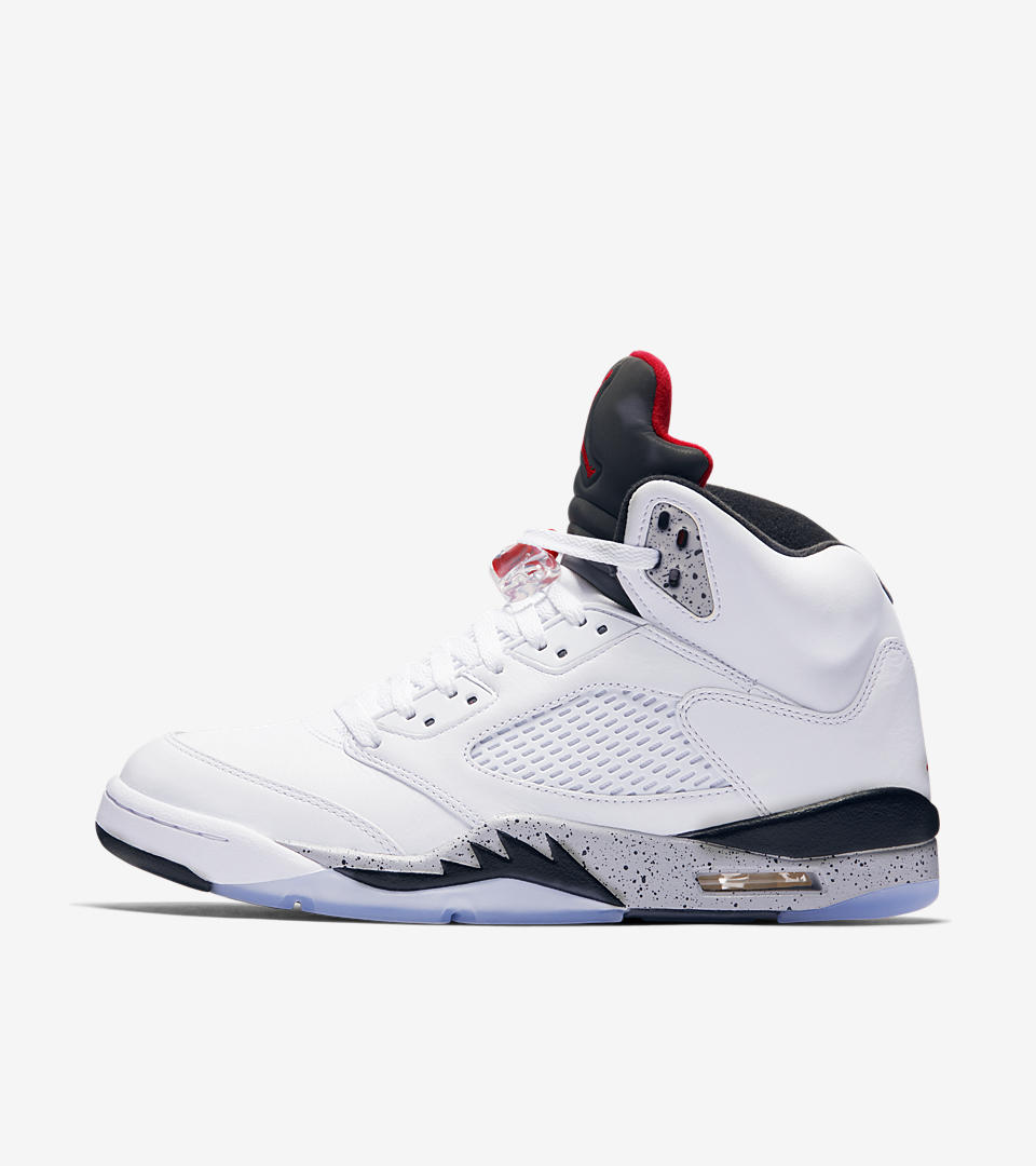 pretty nice 0ceab 96a98 air jordan 5 retro university red and white