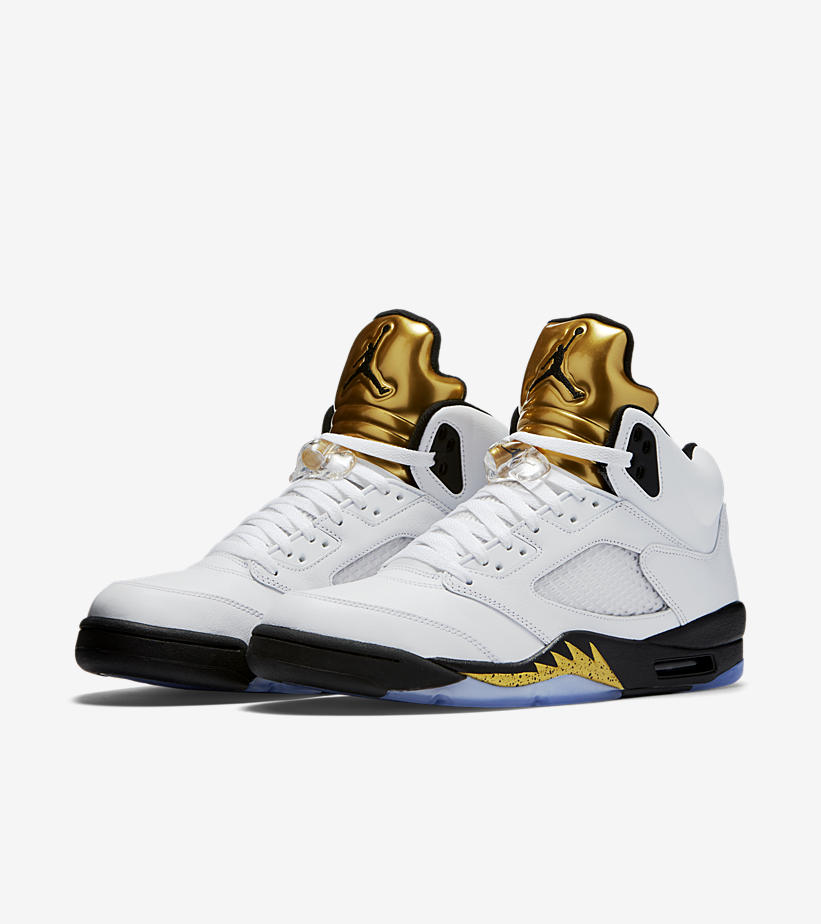 Air Jordan Retro 5 Metallic Gold