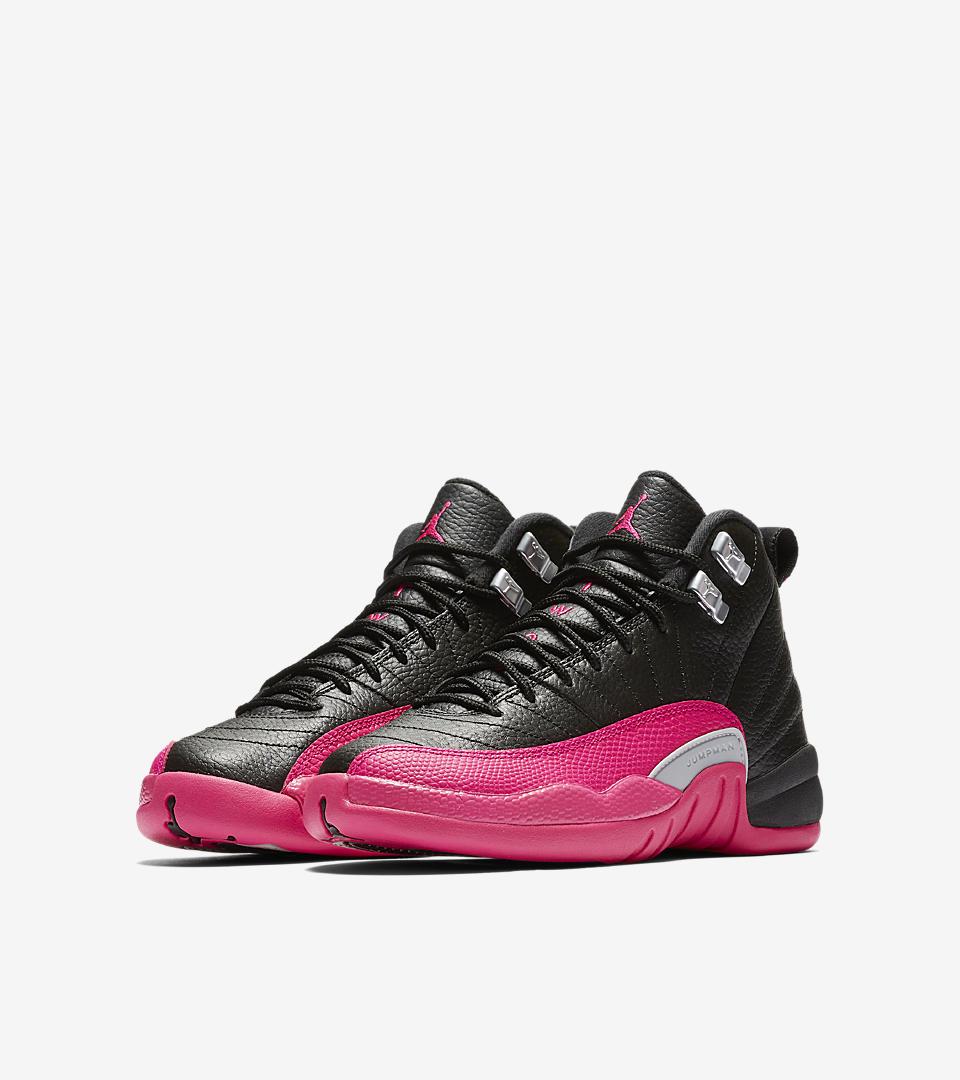 best website 8e16f e591b 2016 women air jordan 12 retro black pink red shoes  air jordan xii gg