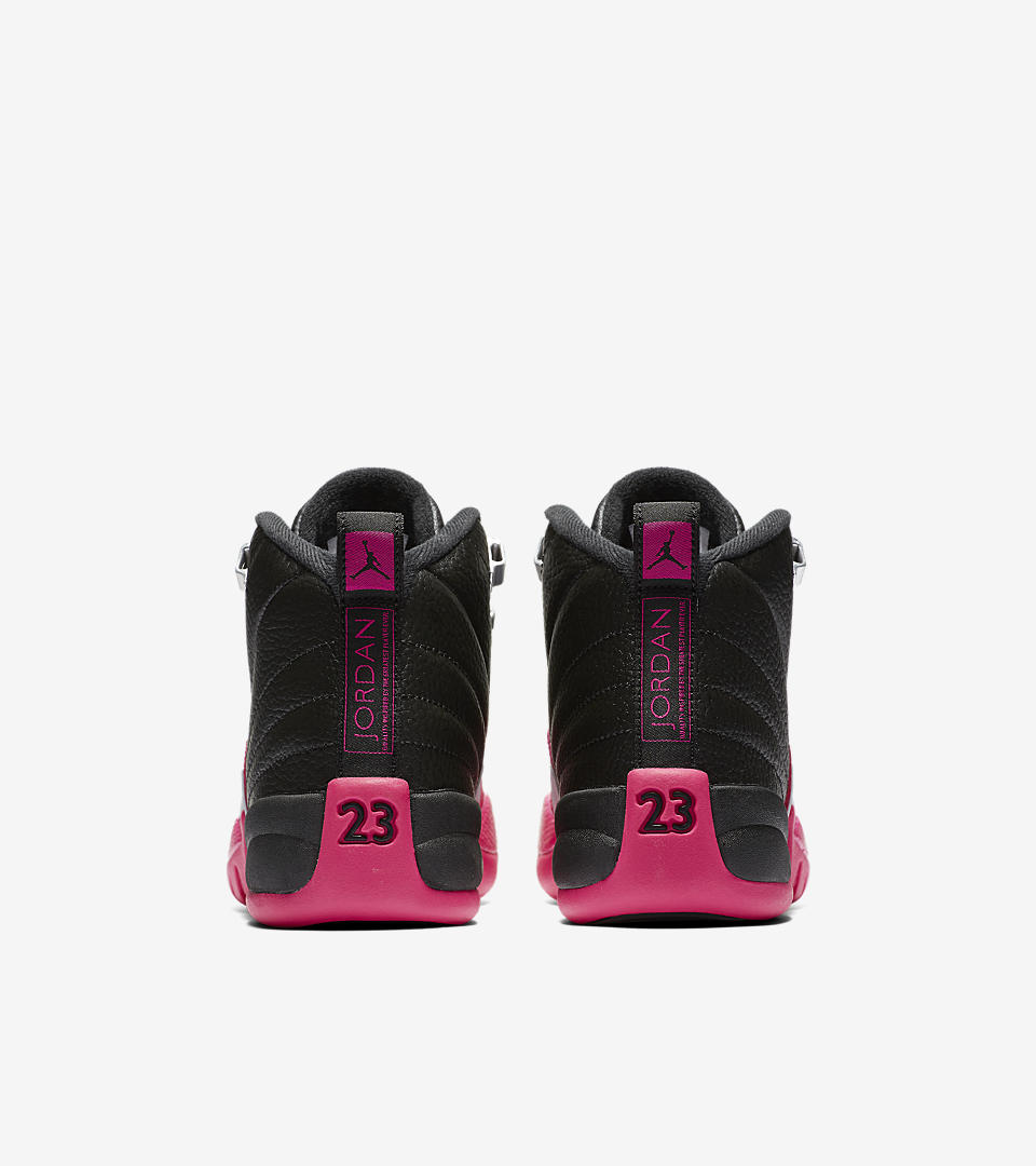 2bc1aeb8552 2017 Cheap Air Jordan 5 GS Deadly Pink Black White Girls Size For Air  Jordan 12 Retro GT - BlackDeadly Pink AIR JORDAN XII GG