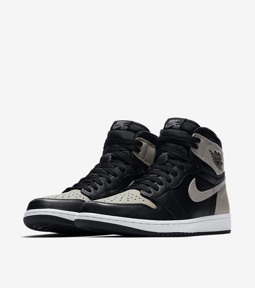 new product a51a6 00861 Air Jordan 1 Retro High OG Shadow Color BlackMedium Grey-White SKU 555088 -013. Release Date April 14, 2018
