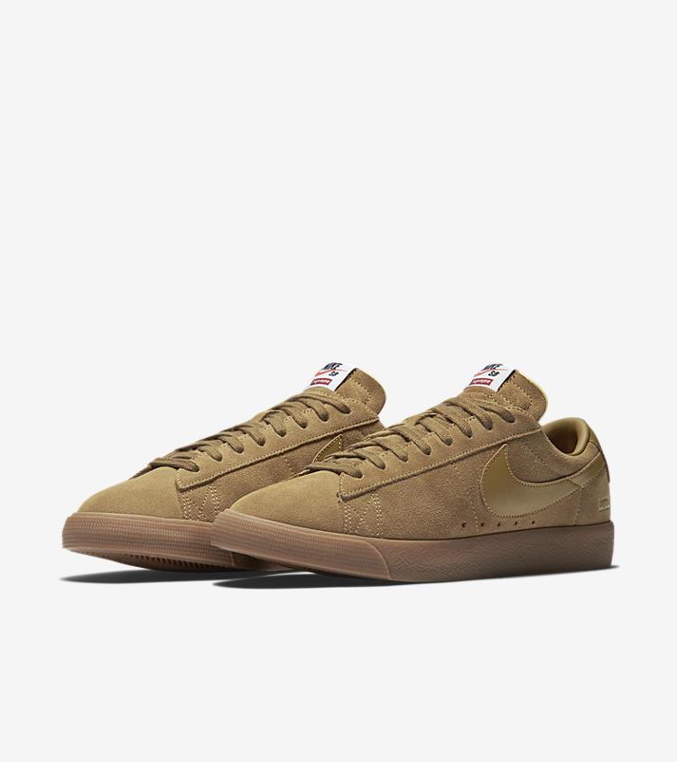 Nike Blazer Low Gt X Supreme Golden Beige Release Date