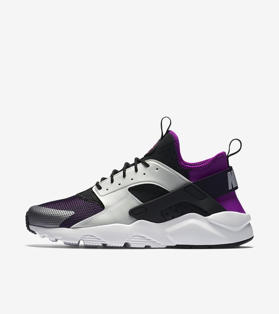 nike air huarache purple red