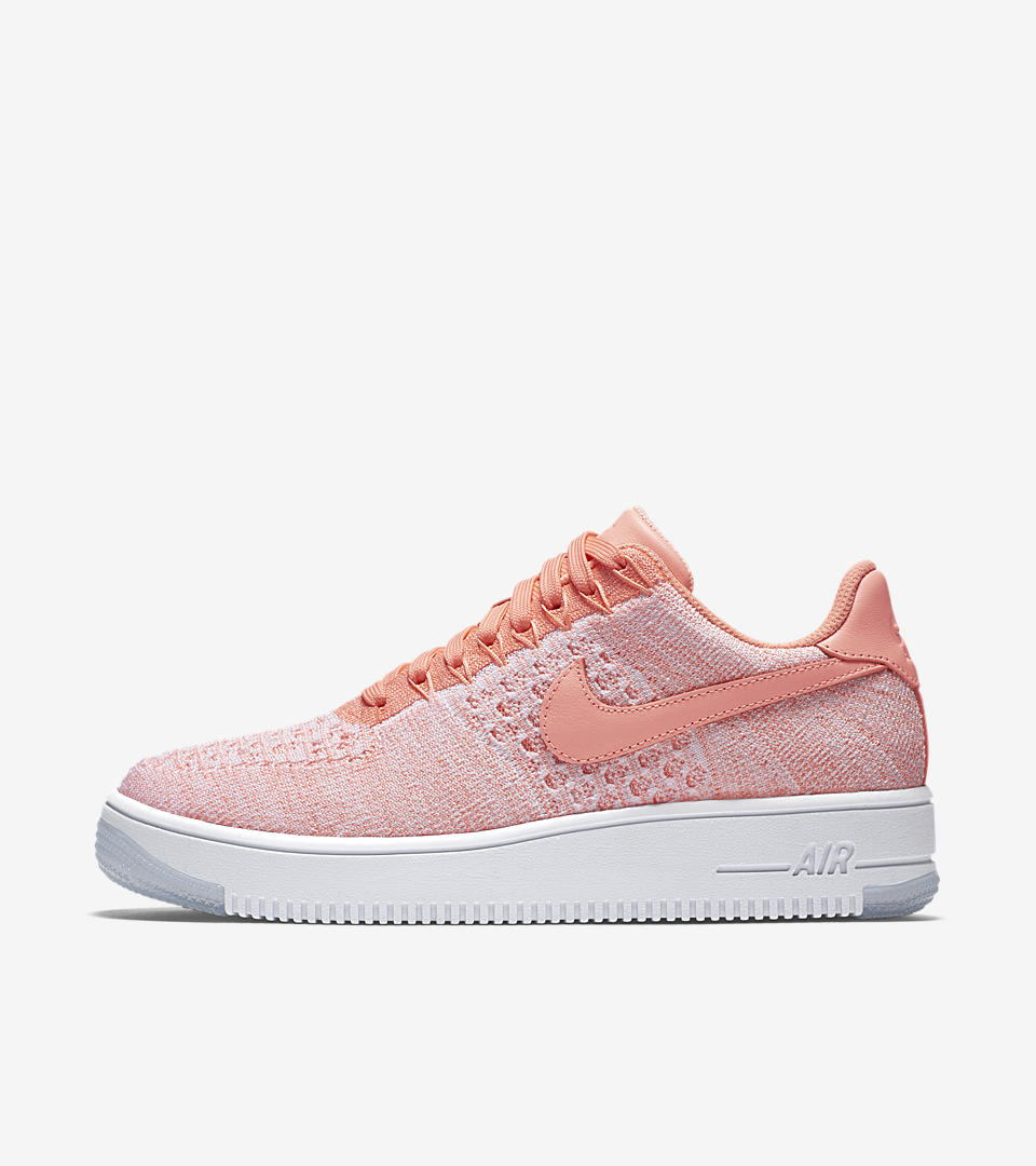 womens nike air force 1 orange pink