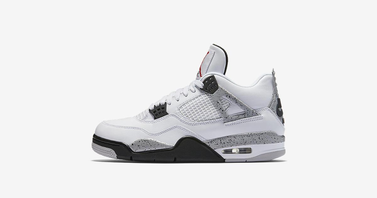 94b84ab3b8db AIR JORDAN IV  Air Jordan 4 Retro  White Cement Grey  Release Date. Nike+  SNKRS ...
