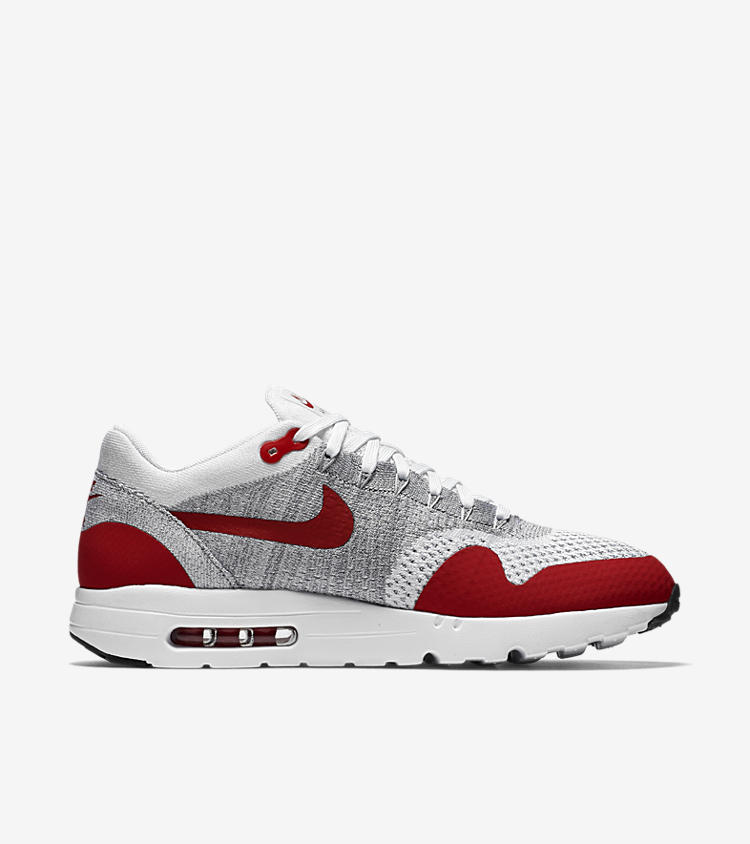 nike air max 1 ultra flyknit 39 varsity red 39 nike snkrs. Black Bedroom Furniture Sets. Home Design Ideas