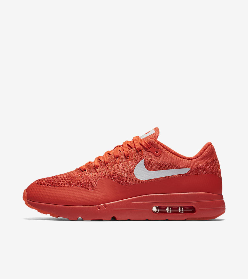 nike air max 1 flyknit bright crimson