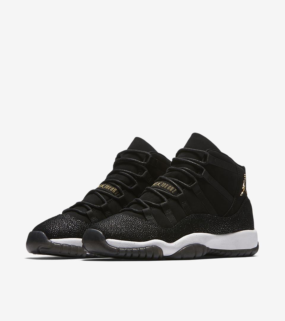 Nike Air Jordan 11 Suede Black White Blue Sneakers  3125791