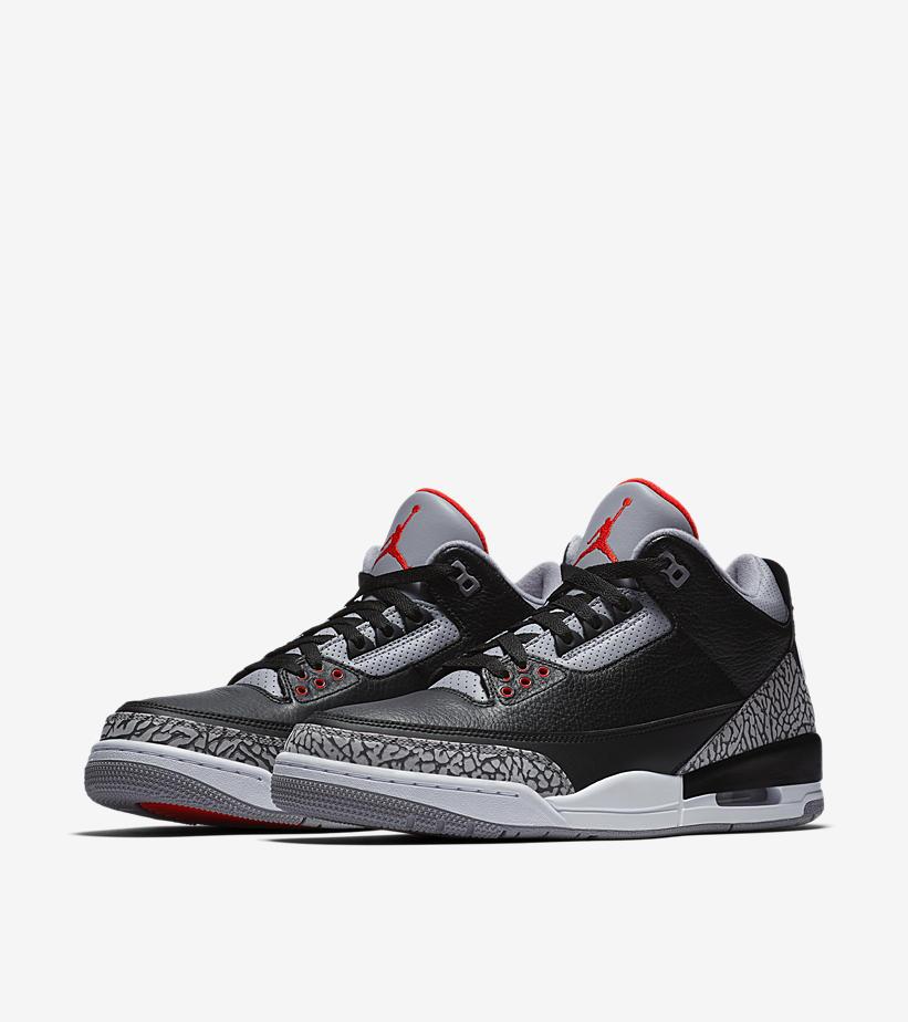 13773ce941bab5 Air Jordan 3 Retro Black Cement Air Jordan 3 Retro Black Cement Color  Black  Fire Red-Cement Grey-White SKU  854262-001
