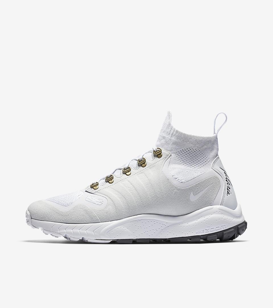 Nike Zoom Talaria Mid Flyknit Men's Shoe White/Pure Platinum/Metallic Gold/White