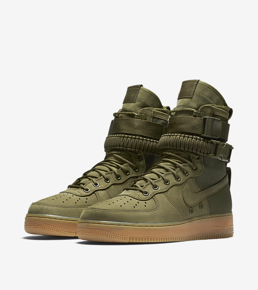 nike special field air 1 faded olive gum light brown