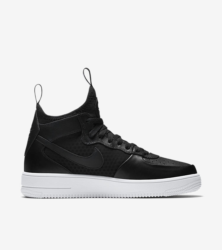 nike air force 1 ultra force mid 39 black white 39 nike. Black Bedroom Furniture Sets. Home Design Ideas