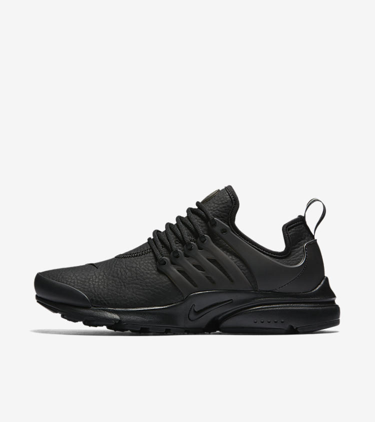 women 39 s nike air presto premium 39 triple black 39 nike snkrs. Black Bedroom Furniture Sets. Home Design Ideas