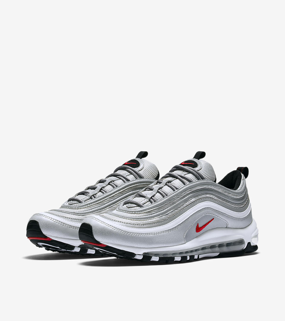 Cheap Nike Air Max 97 Silver Red Cladem