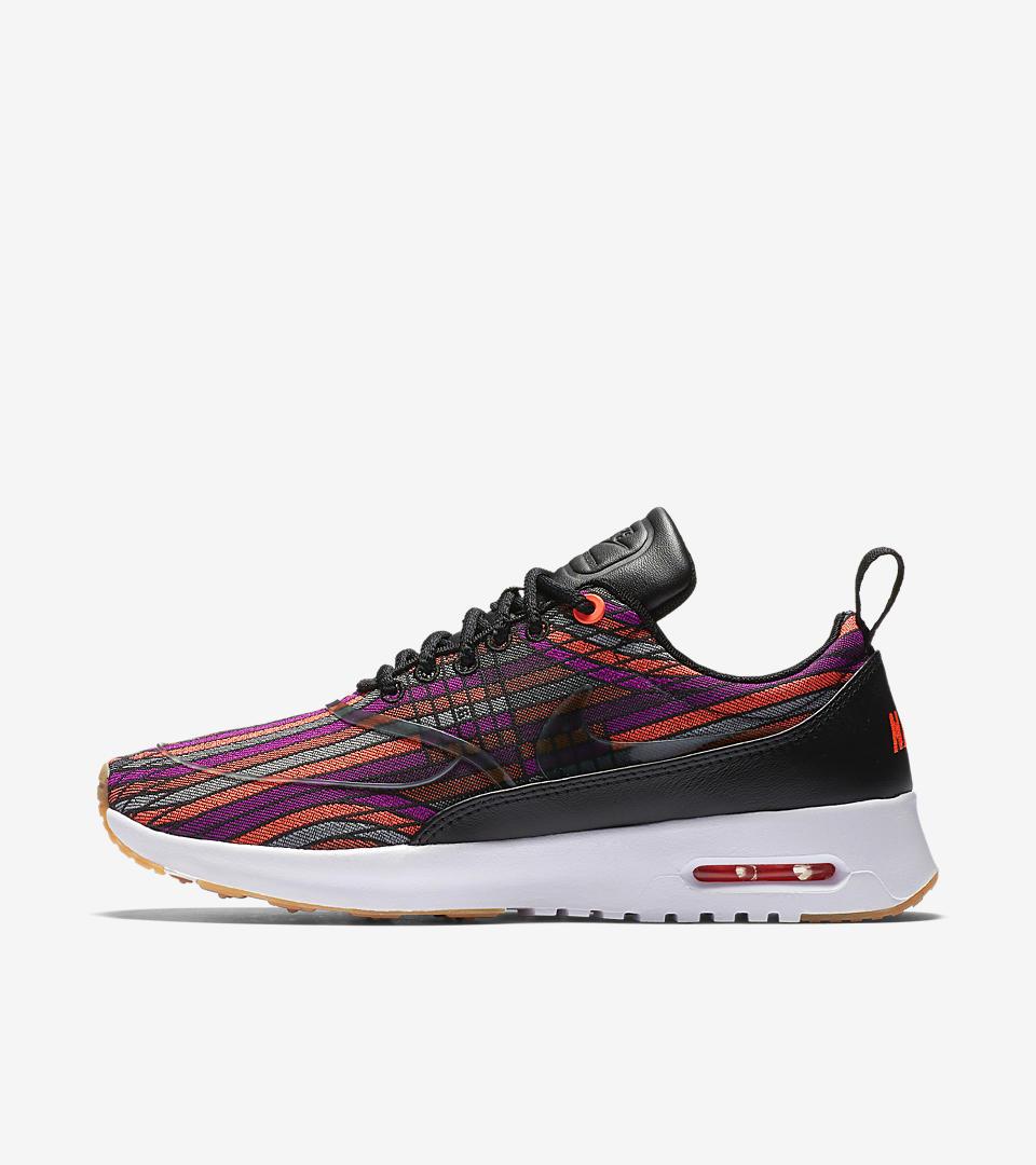 Nike Beautiful x Air Max Thea Ultra Jacquard Premium Women's Shoe Black/Gum Yellow/White/Black