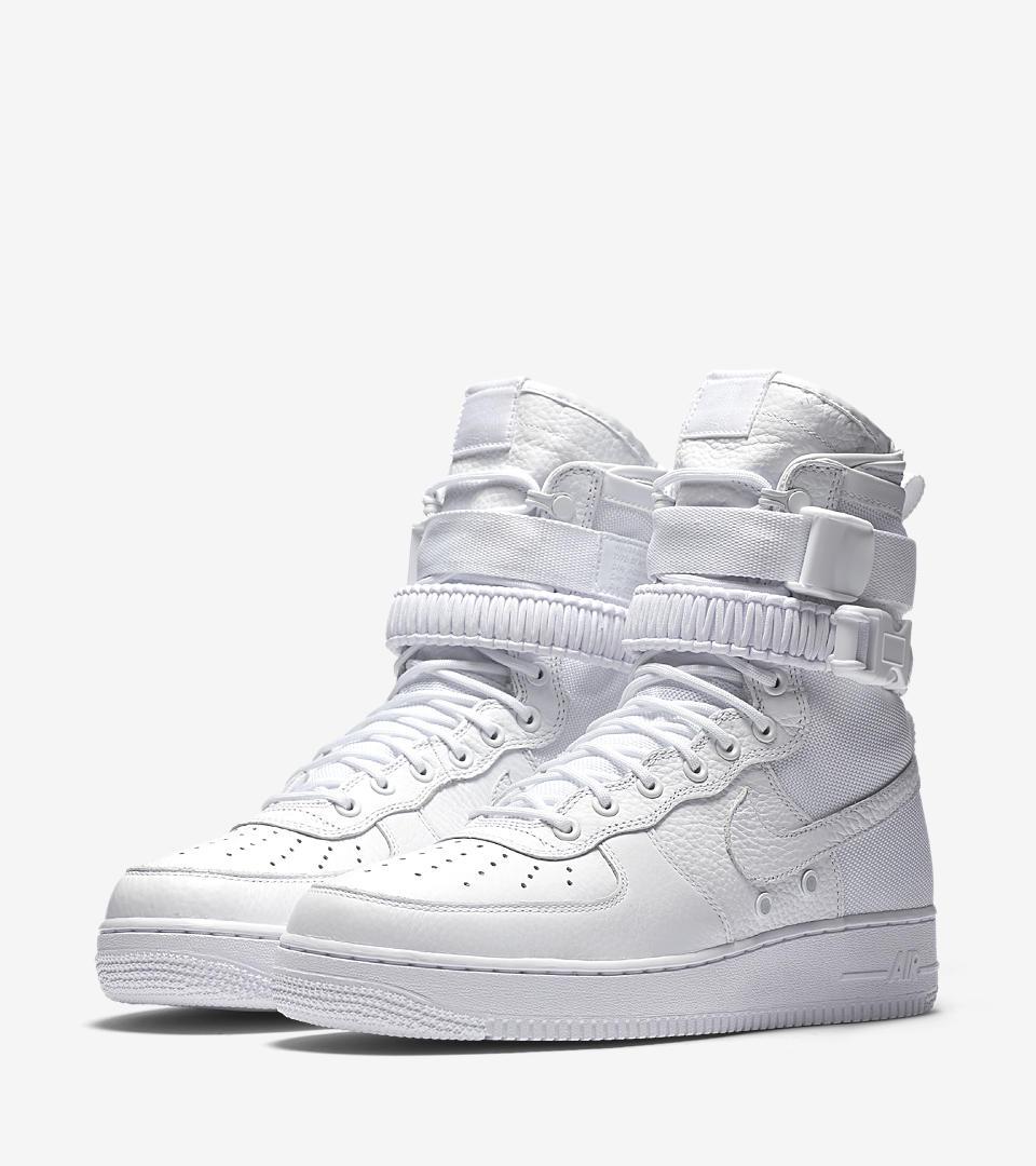 Nike Air Force 1 SF size 10 Triple White
