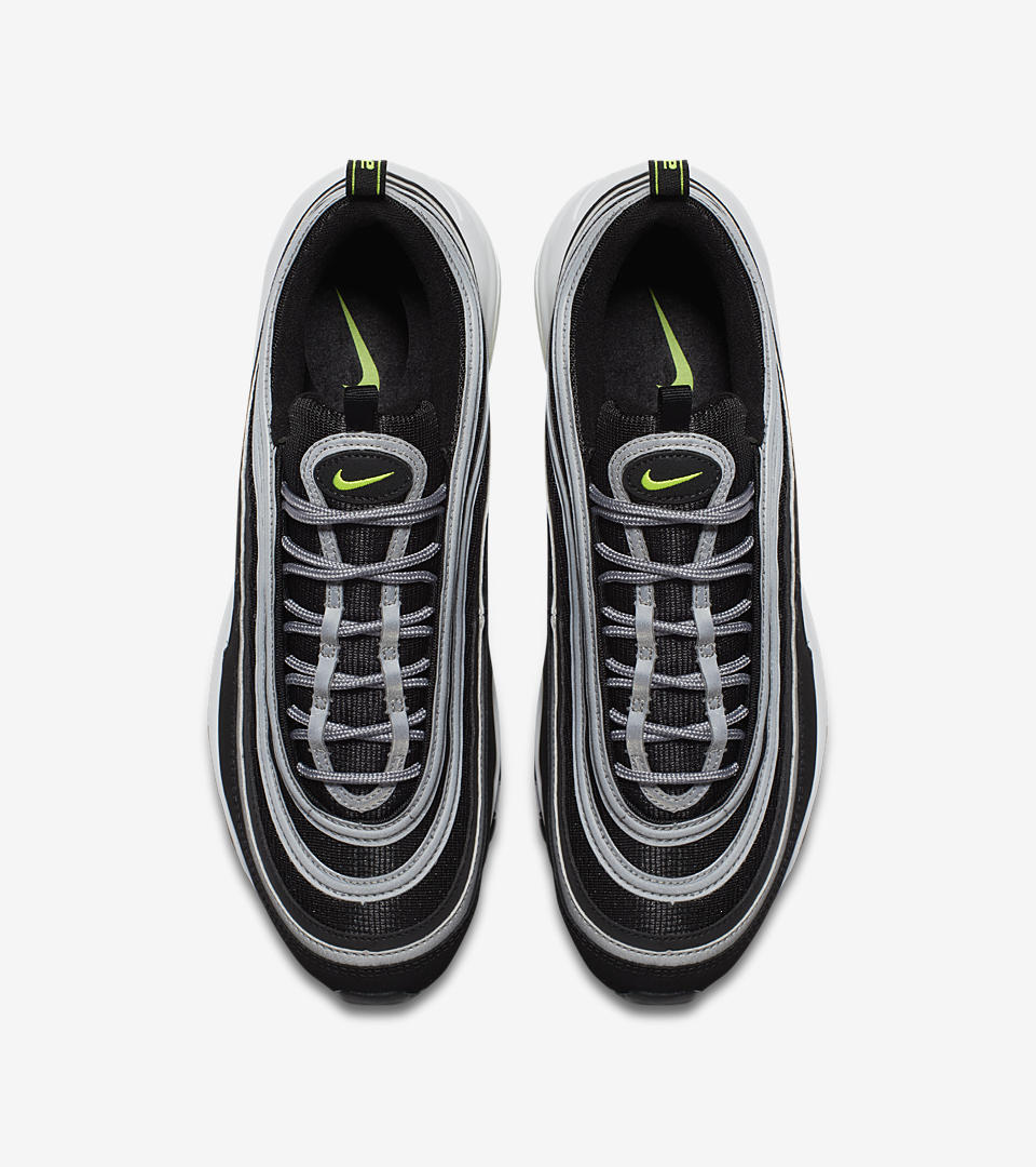 nike air max 97 black and volt
