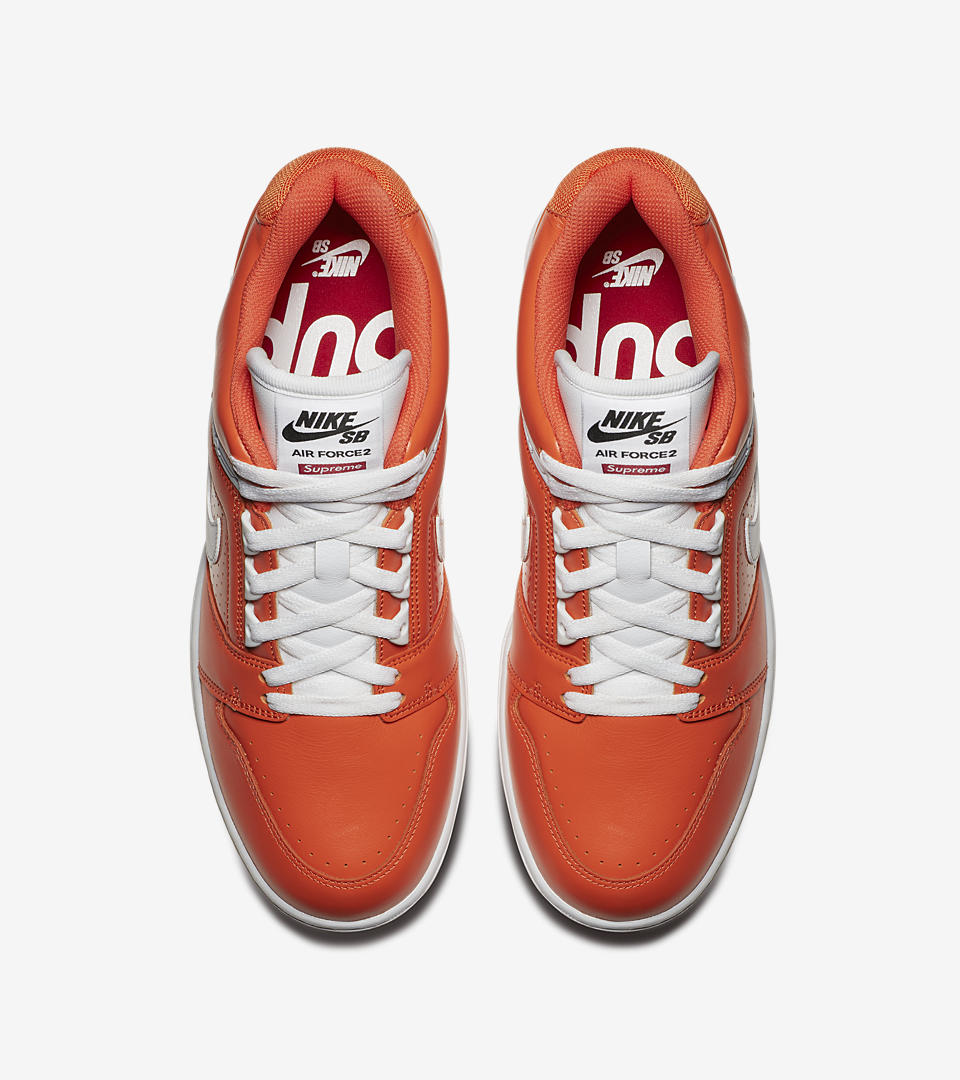 nike air force 2 supreme orange