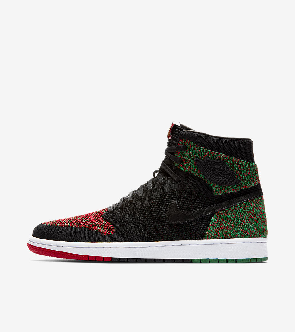 Nike Air Jordan 1 RE HI FLYKNIT BHM aa2426-026 Special Retro Basketball Shoes