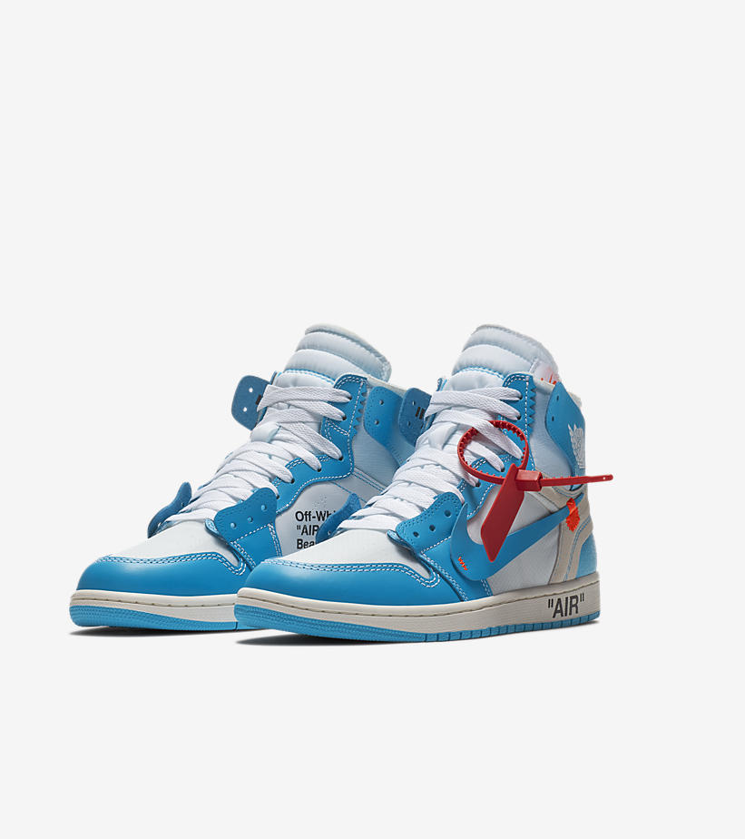 Air Jordan 1 High OG x Off-White UNC Prepared for Takeoff