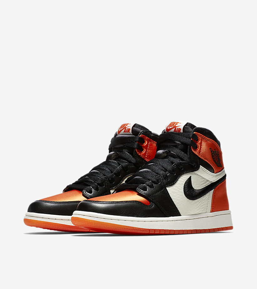 reputable site 8cdca 4d0a0 Women's Air Jordan 1 Retro High OG Satin Shattered Backboard ...